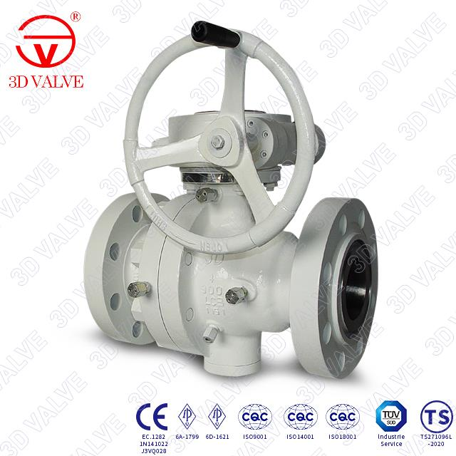 2 Piece Trunnion Ball Valve